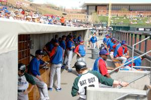 Cubs during spring training
